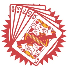 A hand of cards vector image