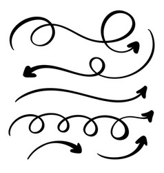 Abstract arrows set doodle hand made vector