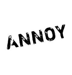 Annoy rubber stamp vector