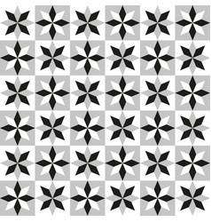 Background tile floral ornament gray vector