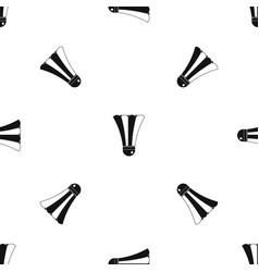 black and white shuttlecock pattern seamless black vector image