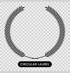 Black laurel wreath with a transparent background vector