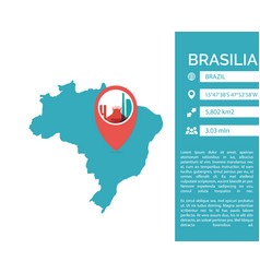 brasilia map infographic vector image