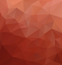 brick red polygonal triangular pattern background vector image