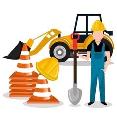 Builder constructor worker icon vector