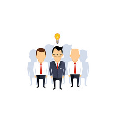 business idea team leader thinking man with idea vector image