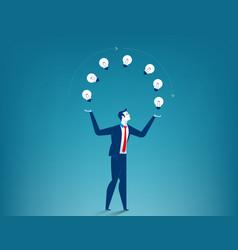 Businessman show creative vector