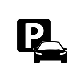 Car parking icon vector