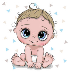 cartoon baby boy isolated on a white background vector image