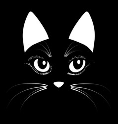 Cat head animal for t-shirt sketch vector