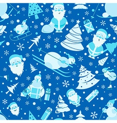 Christmas seamless pattern Colour flat design with vector