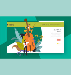 Classical music concert violoncello and musicians vector