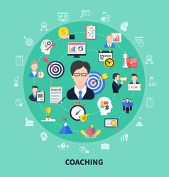 Coaching and training concept vector