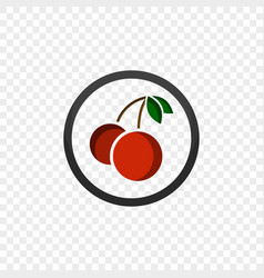 color icon with a picture of a cherry vector image