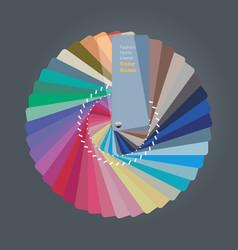 Color palette guide for home interior designer vector
