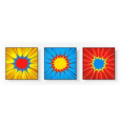 comic square bright explosive composition vector image