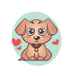 cute and kawaii labrador puppy dog symbol new vector image