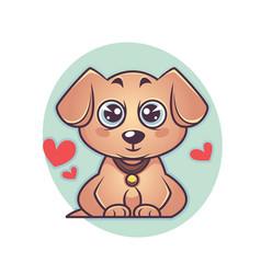 Cute and kawaii labrador puppy dog symbol of new vector