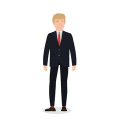 dec 07 2018 donald trump character on white vector image