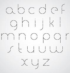 Digital alphabet modern style font vector