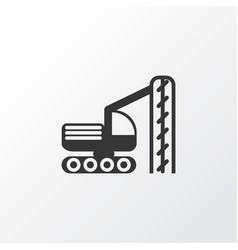 Drilling machine icon symbol premium quality vector