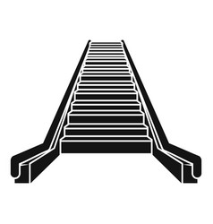escalator icon simple style vector image