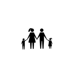 family graphic design template isolated vector image