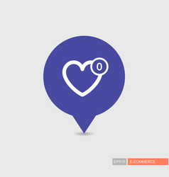 Favorites pin map icon vector
