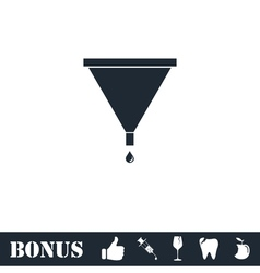 Filter funnel icon flat vector