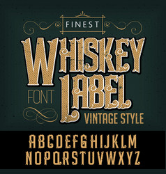 Finest whiskey typeface poster vector
