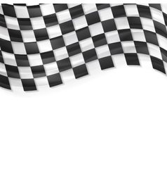Finish wavy flag design Black and white squares vector