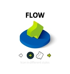 Flow icon in different style vector
