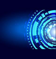 futuristic hud interface shiny technology shapes vector image