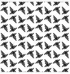 geometric seamless pattern black and white vector image