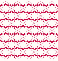 geometric seamless pattern in red and white vector image