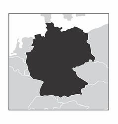 germany dark silhouette vector image