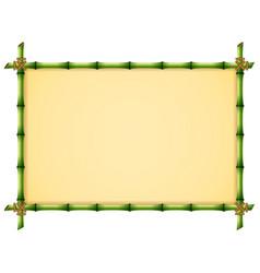 green bamboo frame vector image