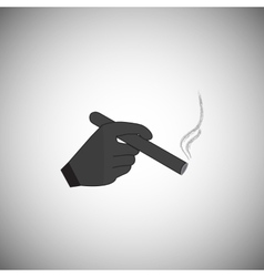 hand holding a smoking cigarette vector image