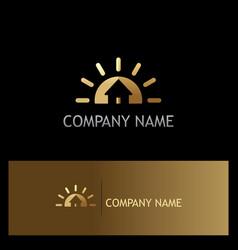 home gold realty company logo vector image