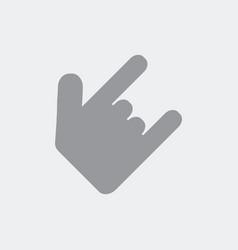 horns gesture vector image