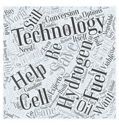 Hydrogen Fuel Cell Technology to Save the Planet vector image