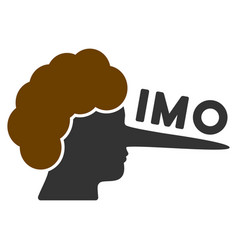 imo lier flat icon vector image