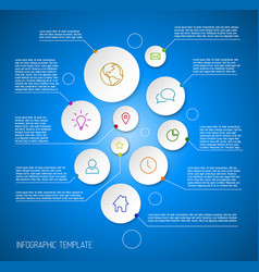 Infographic blue report poster with circles vector
