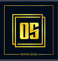 Initial letter os logo template design vector