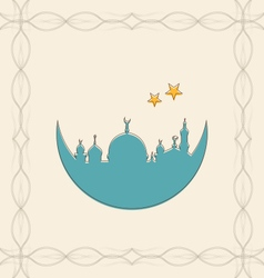 Islamic Card for Ramadan Kareem vector image