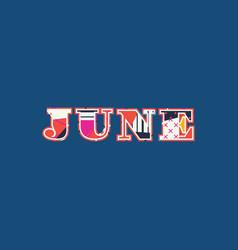 June concept word art vector