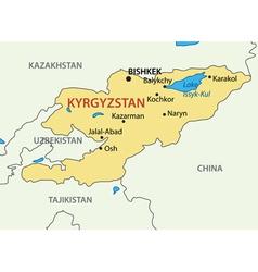 Kyrgyz Republic - Kyrgyzstan - map vector image