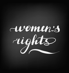lettering inscription womens rights feminist vector image