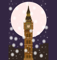 london christmas eve vector image