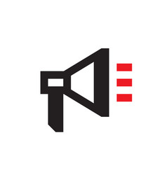 loudspeaker - black icon on white background vector image